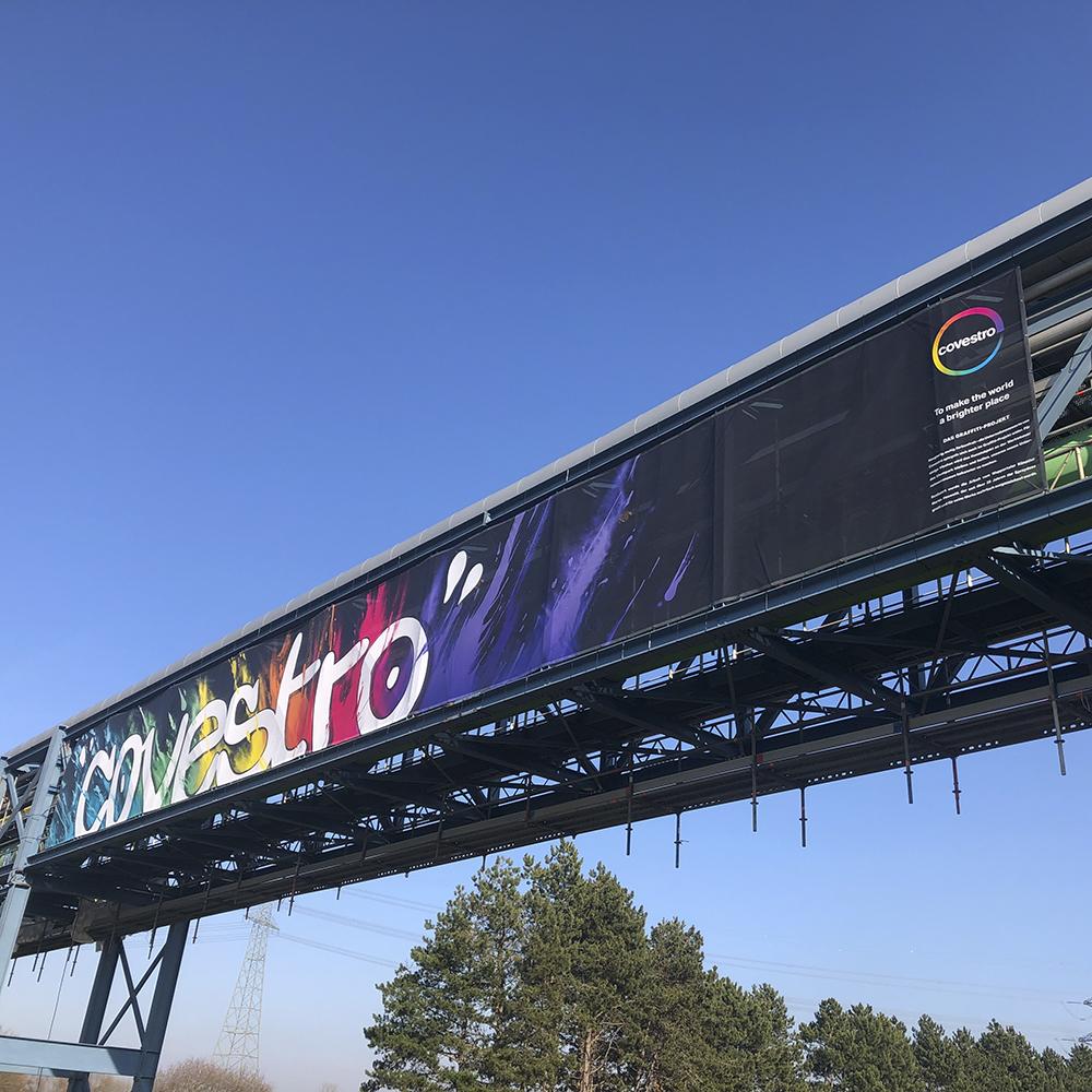 cov banner rohrbrücke